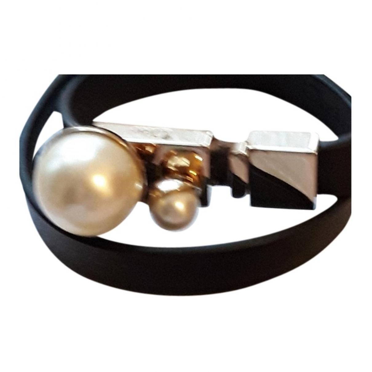 Dior - Bracelet Perles pour femme en cuir - noir