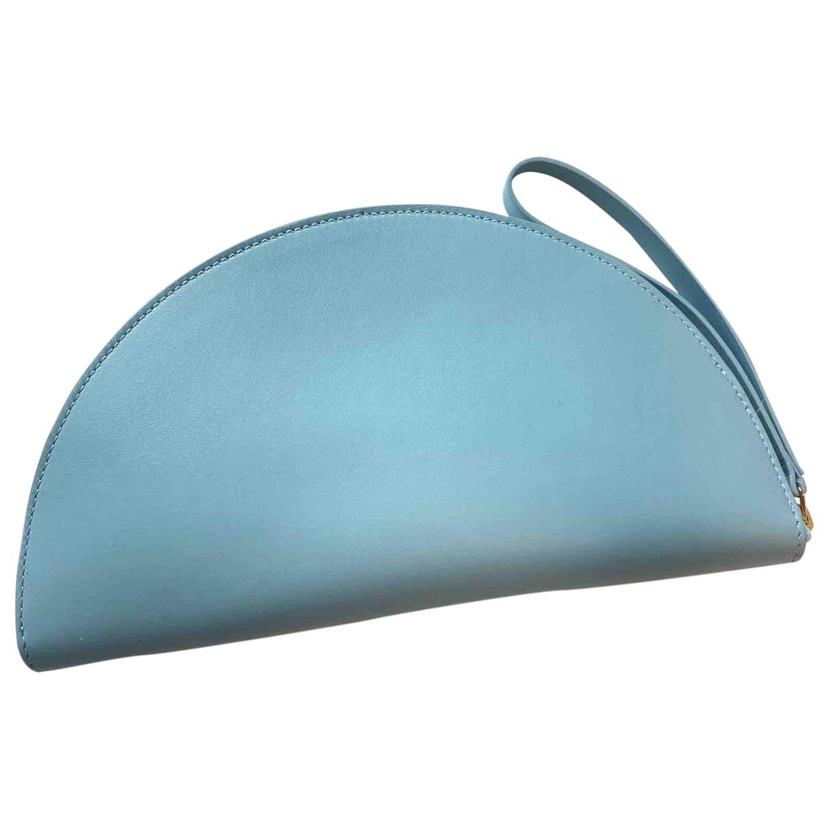 Mansur Gavriel \N Portemonnaie in  Blau Leder