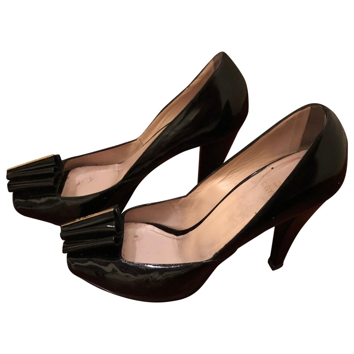 Elisabetta Franchi \N Black Patent leather Heels for Women 39 EU