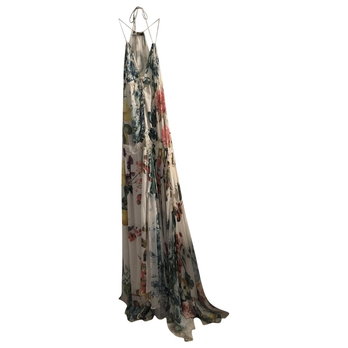 Roberto Cavalli \N Kleid in  Weiss Seide