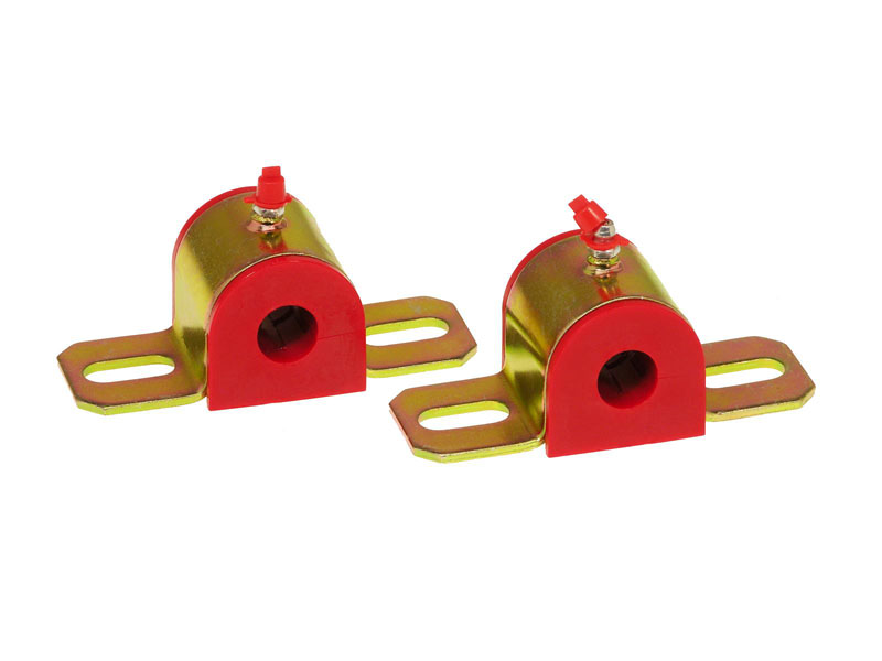Prothane 19-1172 Universal Greasable Sway Bar Bushings - 11/16in - Type B Bracket - Red