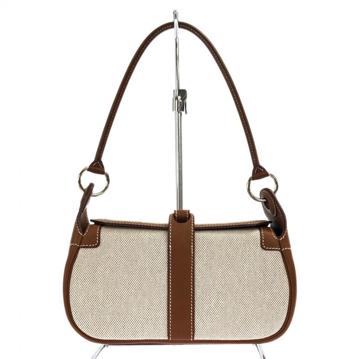 Hermès Rugby  Beige Cloth handbag for Women \N