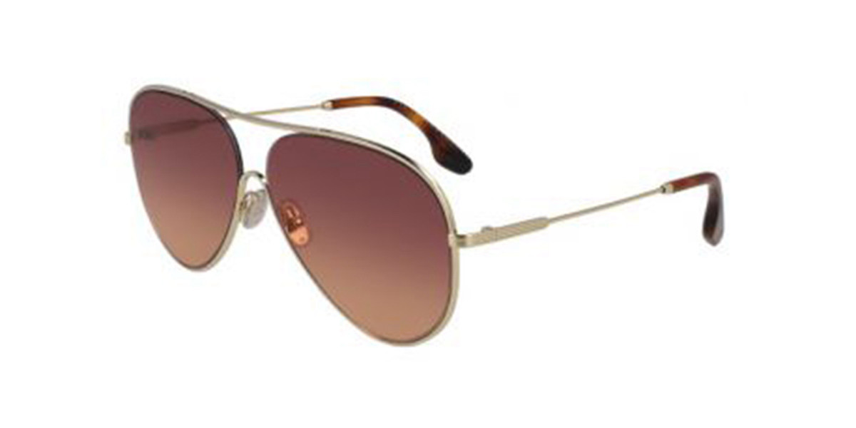 Victoria Beckham VB132S 711 Women's Sunglasses Gold Size 61
