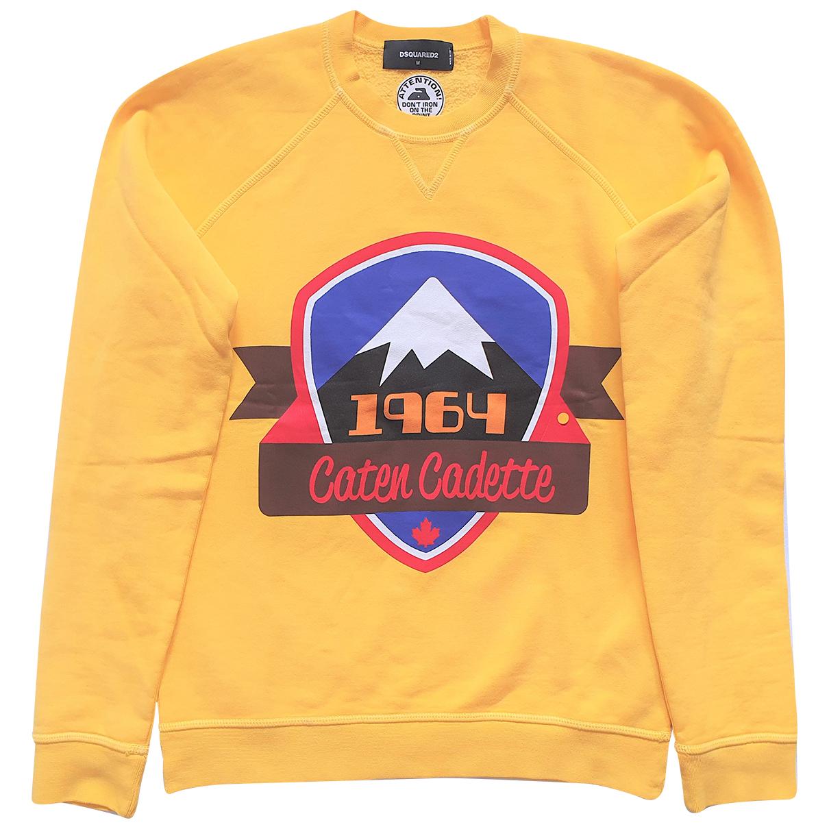 Dsquared2 N Yellow Cotton Knitwear & Sweatshirts for Men M International