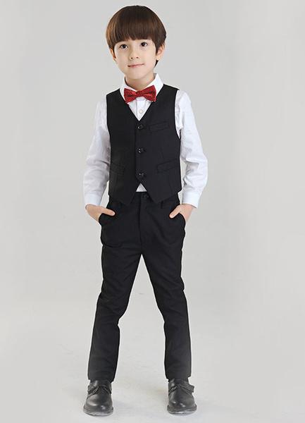 Milanoo Traje para niños de 4 piezas camisa chaleco pajarita pantalones