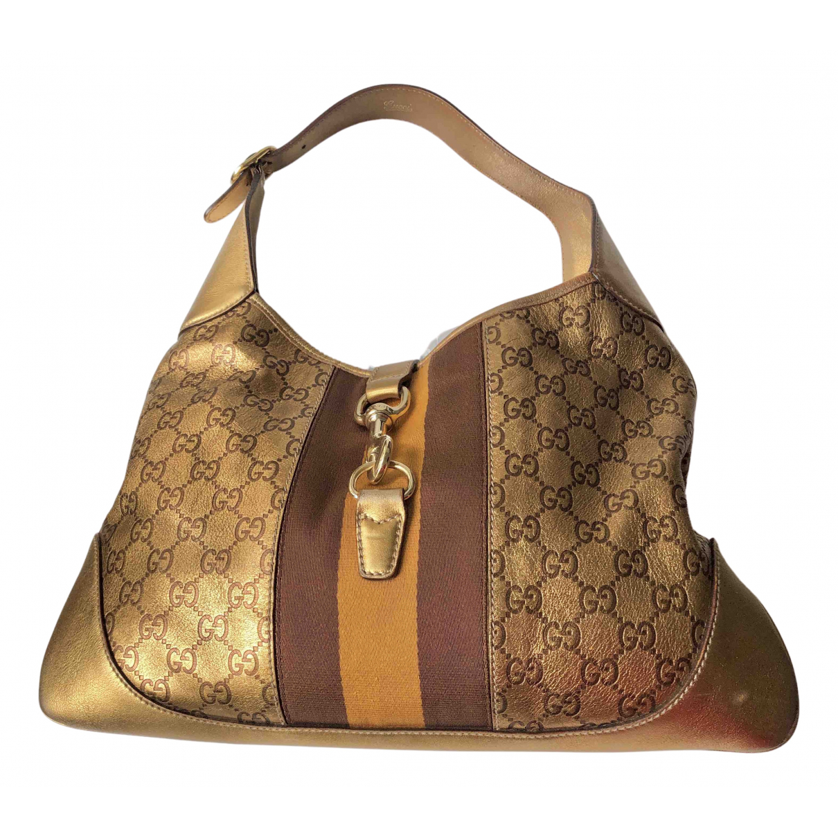 Gucci Jackie Gold Leather handbag for Women N