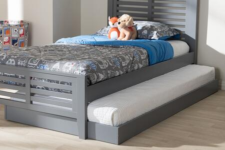 HT-GREY-TRUNDLE Baxton Studio Payton Modern and Contemporary Grey-Finished Twin