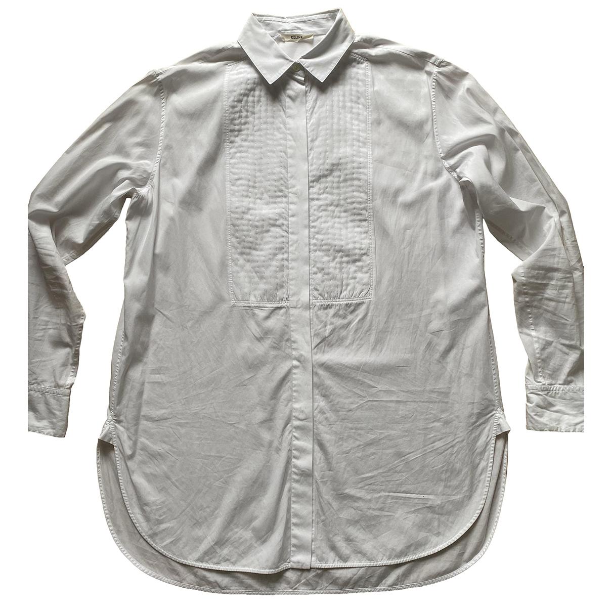 Celine - Top   pour femme en coton - blanc