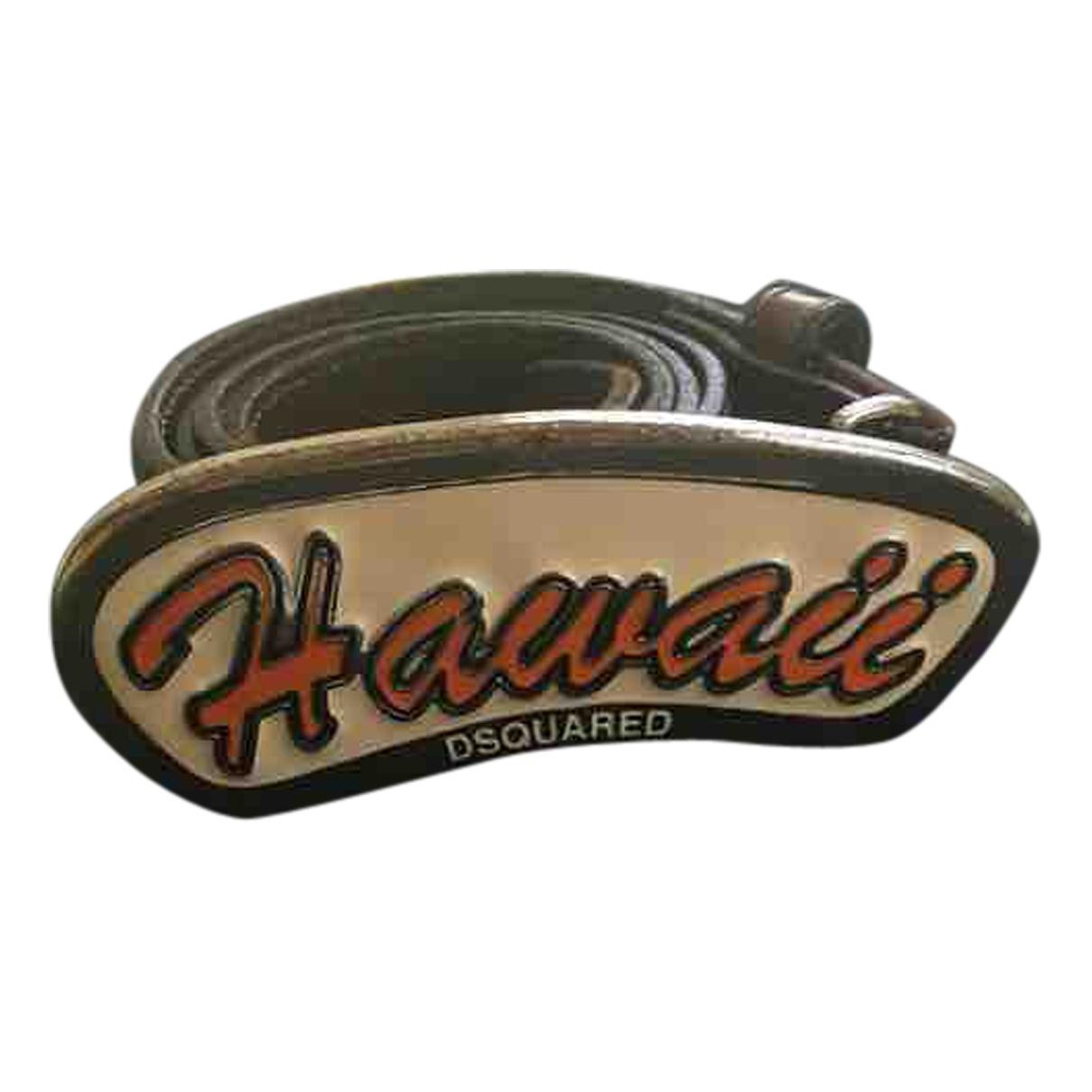 Dsquared2 \N Brown Leather belt for Men 100 cm