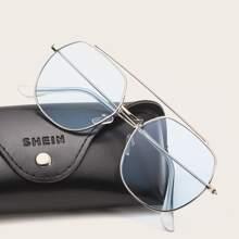Maenner Pilotenbrille mit metallischem Rahmen