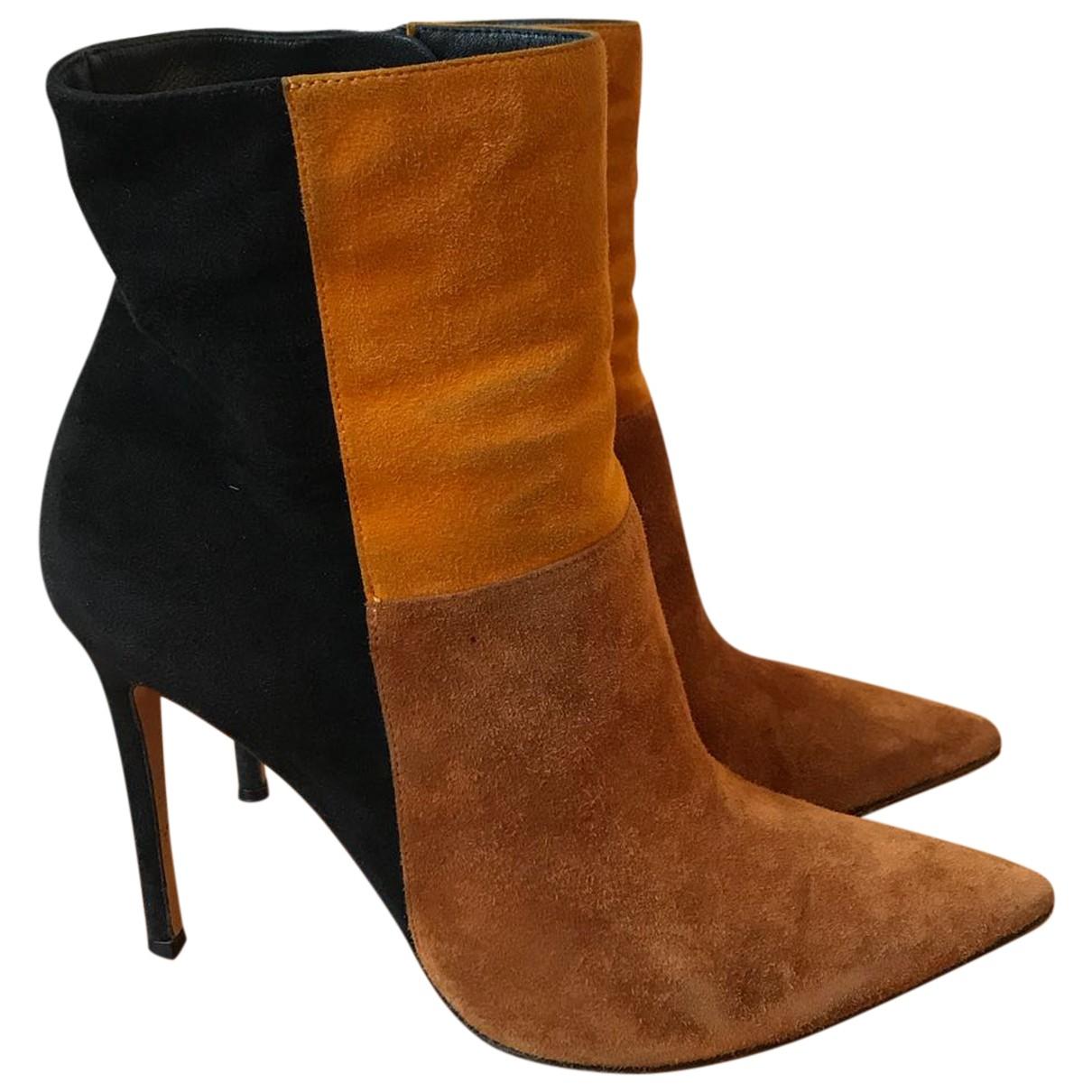 Gianvito Rossi - Boots   pour femme en suede - camel