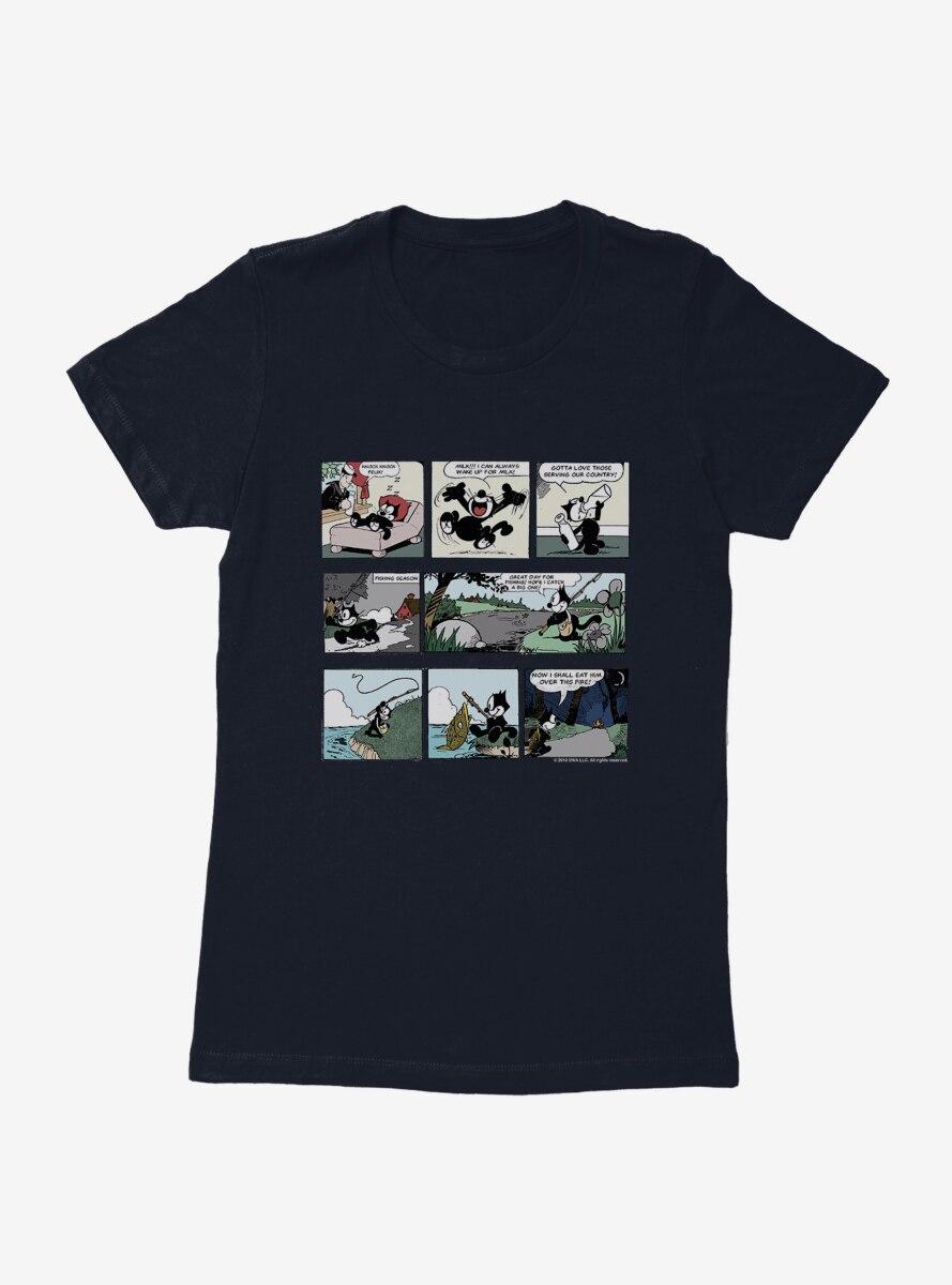Felix The Cat Comic Strips Womens T-Shirt