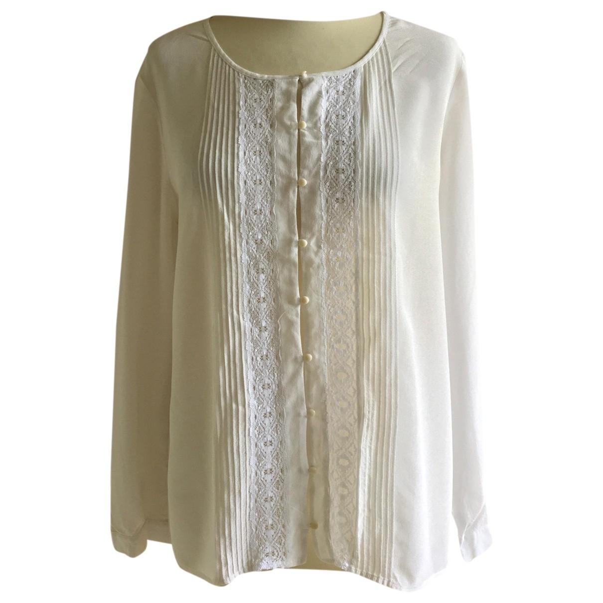 Des Petits Hauts - Top   pour femme en soie - blanc