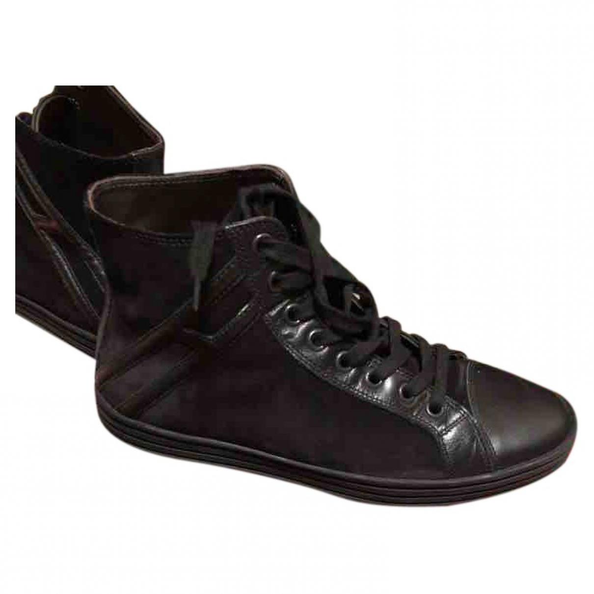 Hogan - Baskets   pour homme en suede - noir
