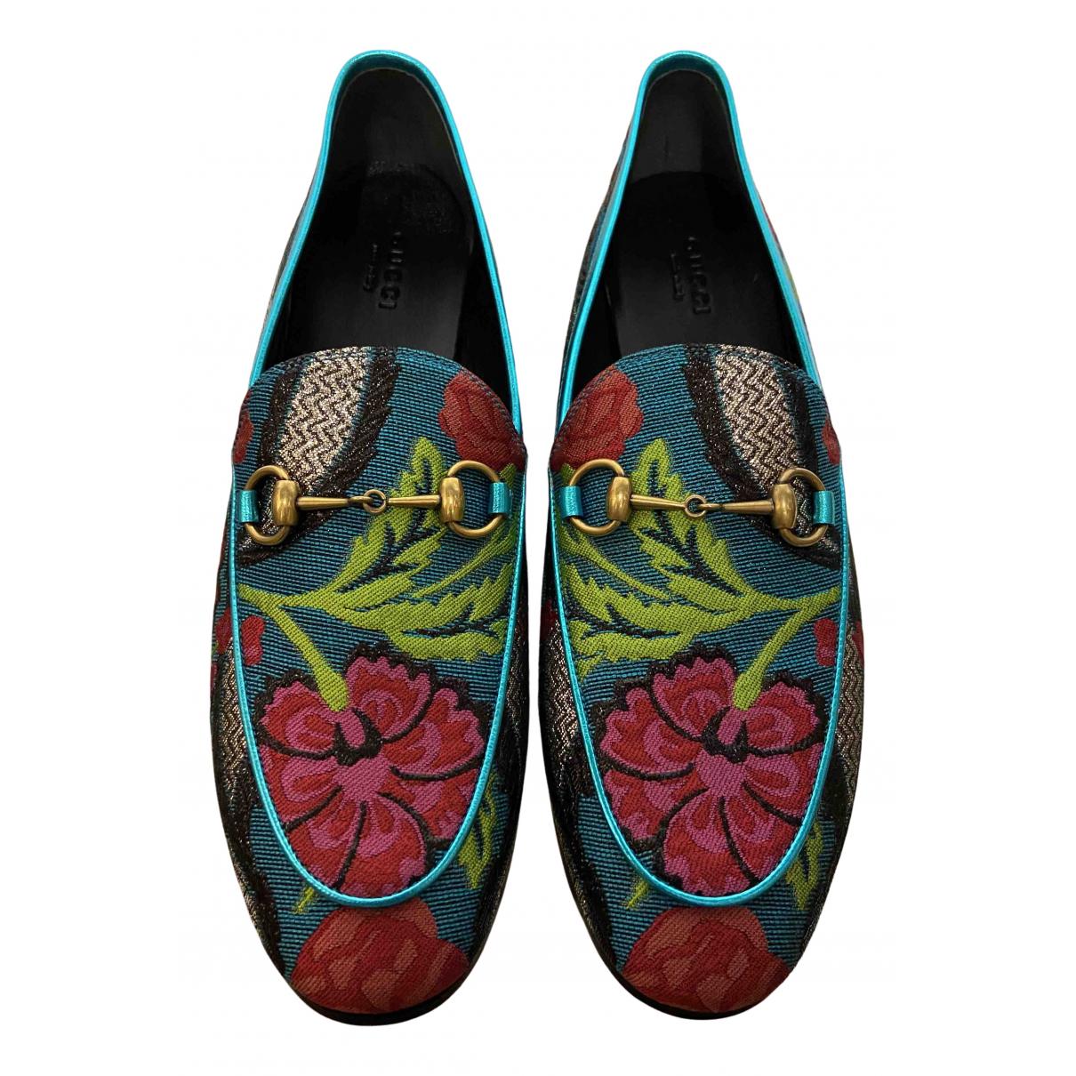 Gucci Jordaan Multicolour Cloth Flats for Women 38 EU