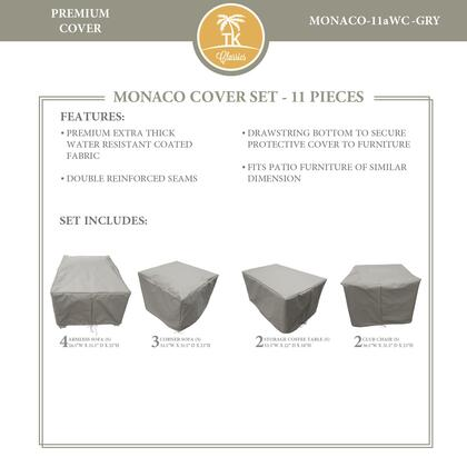 MONACO-11aWC-GRY Protective Cover Set  for MONACO-11a in