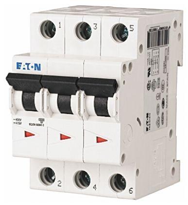 Eaton xEffect 50 A MCB Mini Circuit Breaker, 3P Curve D