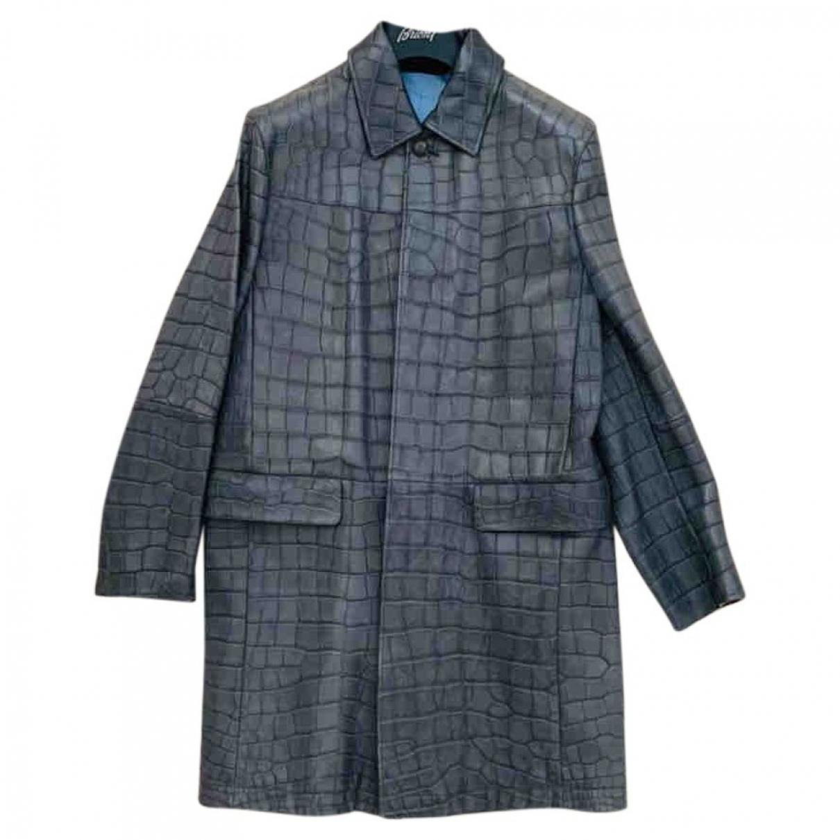 Brioni \N Grey Crocodile coat  for Men 50 IT