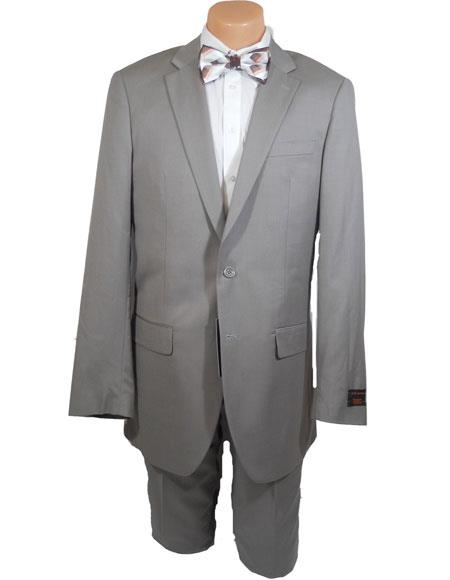 Men's Beige Single Breasted 100% Wool Extra Long Suits Front Pants