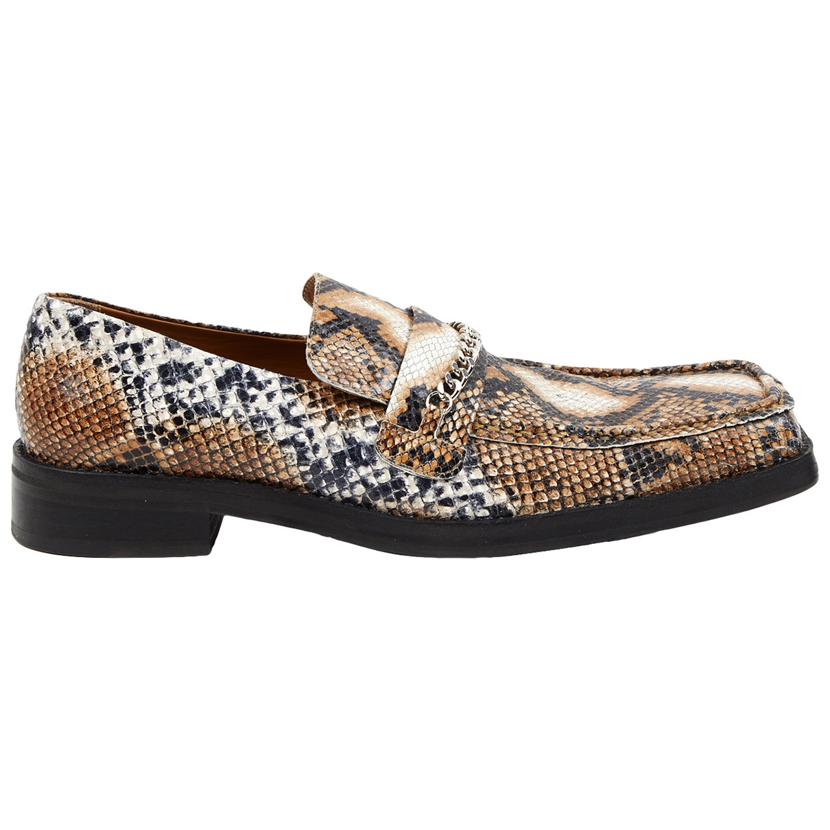 Martine Rose \N Brown Leather Flats for Women 39 EU