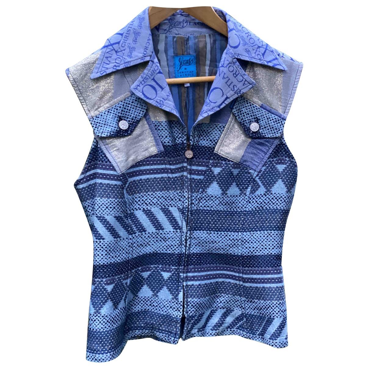Christian Lacroix - Top   pour femme en coton - bleu