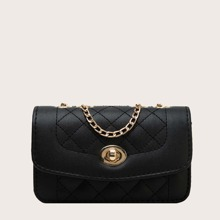Girls Turn-lock Quilted Crossbody Bag