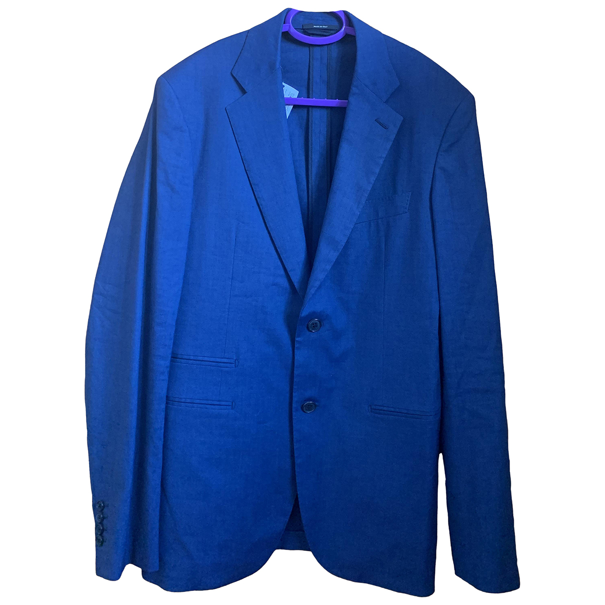 Hermès \N Blue Linen jacket  for Men 48 FR