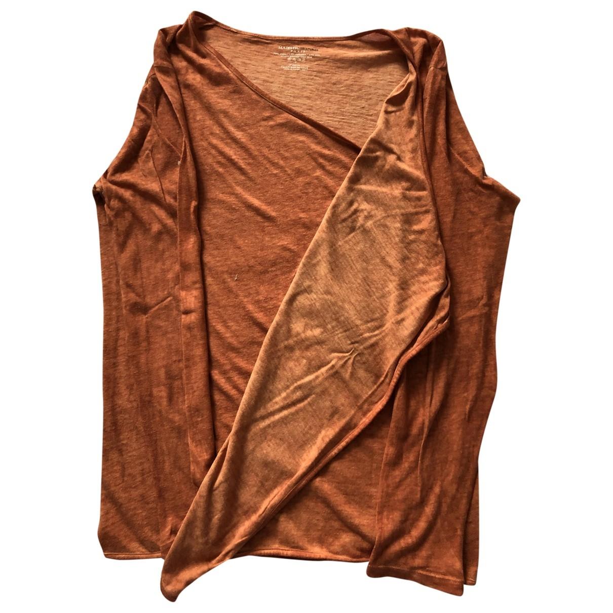 Majestic Filatures \N Pullover in  Orange Baumwolle