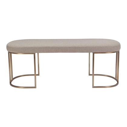 Kazu Collection YM-1005-15 Bench with Stainless Steel Base in Gray