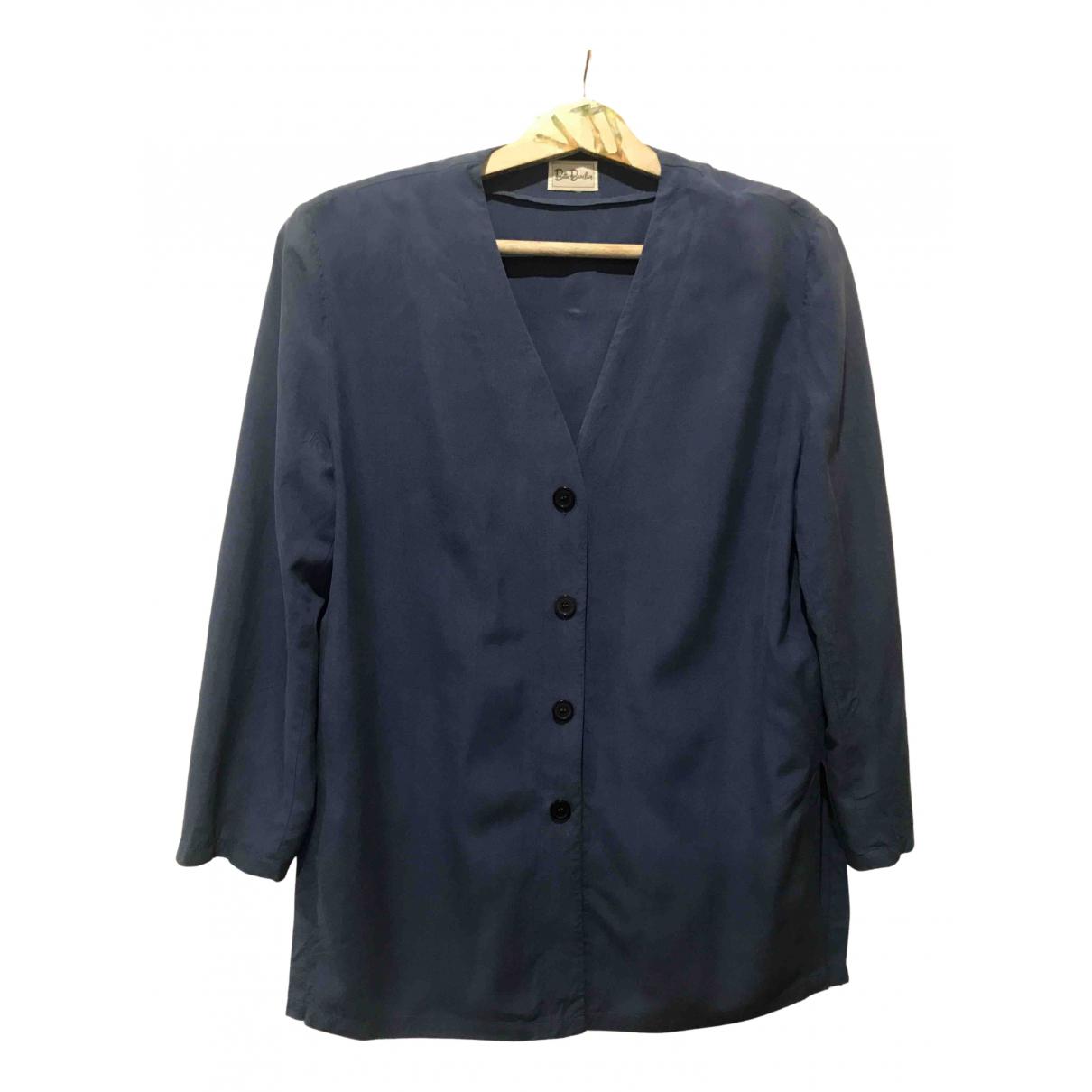 Non Signe / Unsigned Oversize Jacke in  Schwarz Seide