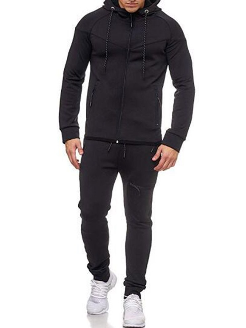 Ericdress Casual Pants Color Block Men's Sport Outfit