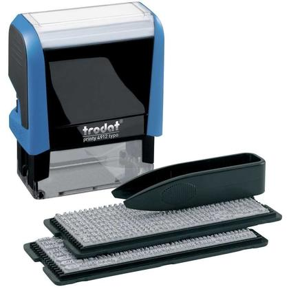 Trodat Do-It-Yourself Printy 4912 Climate-Neutral Self-Inking Stamping Kit, 4-Line