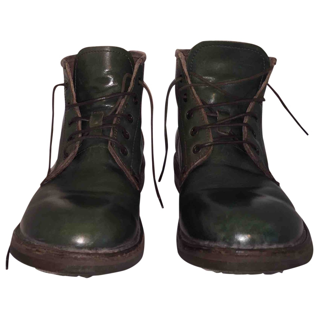 Moma \N Green Leather Boots for Men 42 EU