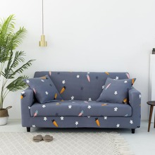 Carrot Print Stretchy Sofa Cover Without Cushion Cover