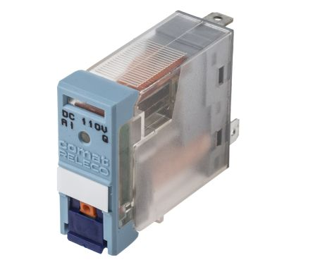 Releco , 110V dc Coil Non-Latching Relay SPDT, 10A Switching Current PCB Mount Single Pole