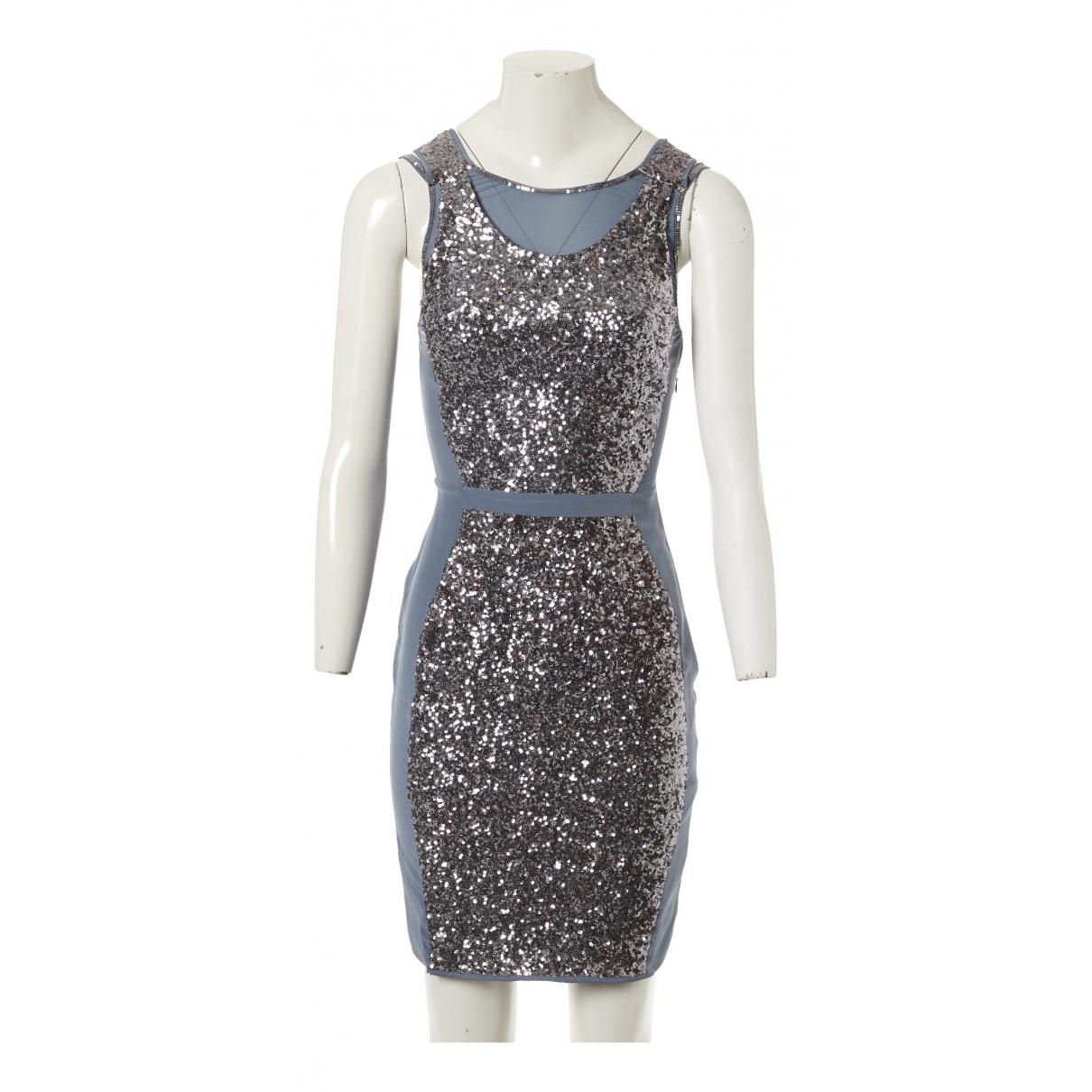 Reiss \N Kleid in  Silber Mit Pailletten