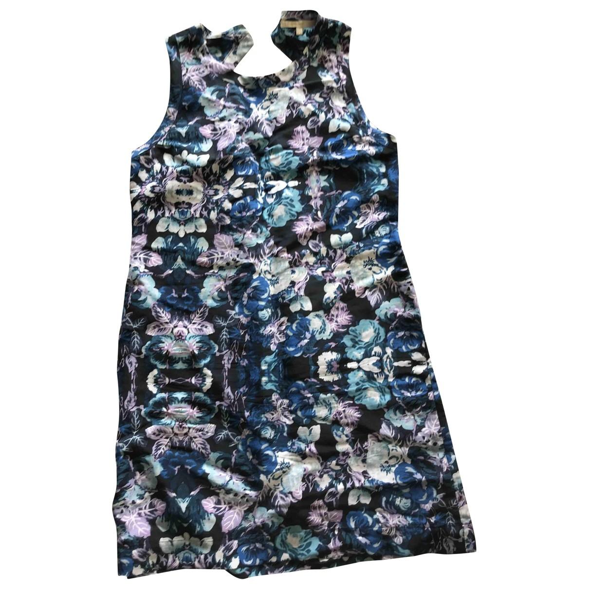 Maje \N Blue Linen dress for Women 38 FR