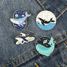 4pcs Dolphin Design Brooch