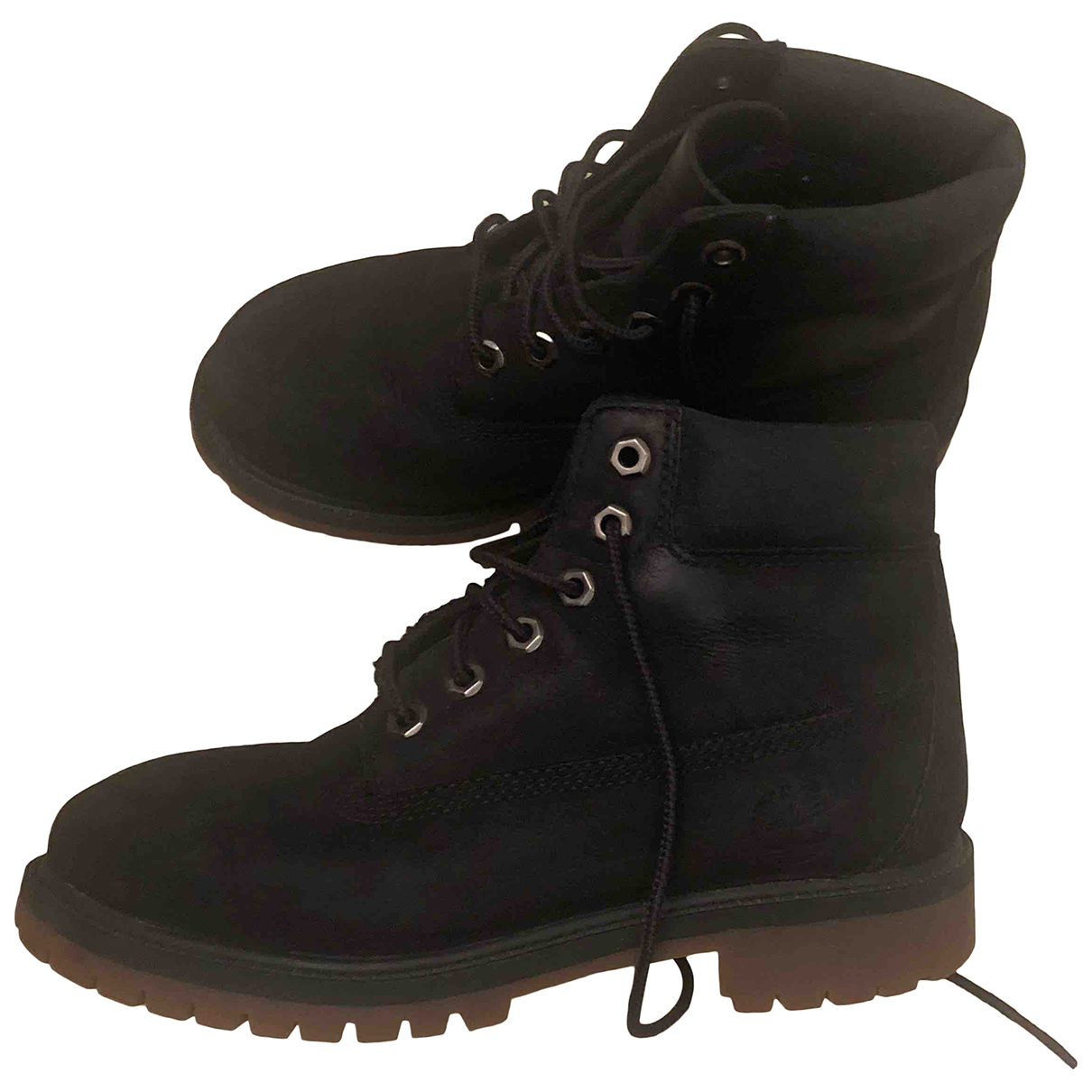 Timberland N Black Leather Boots for Kids 33 FR
