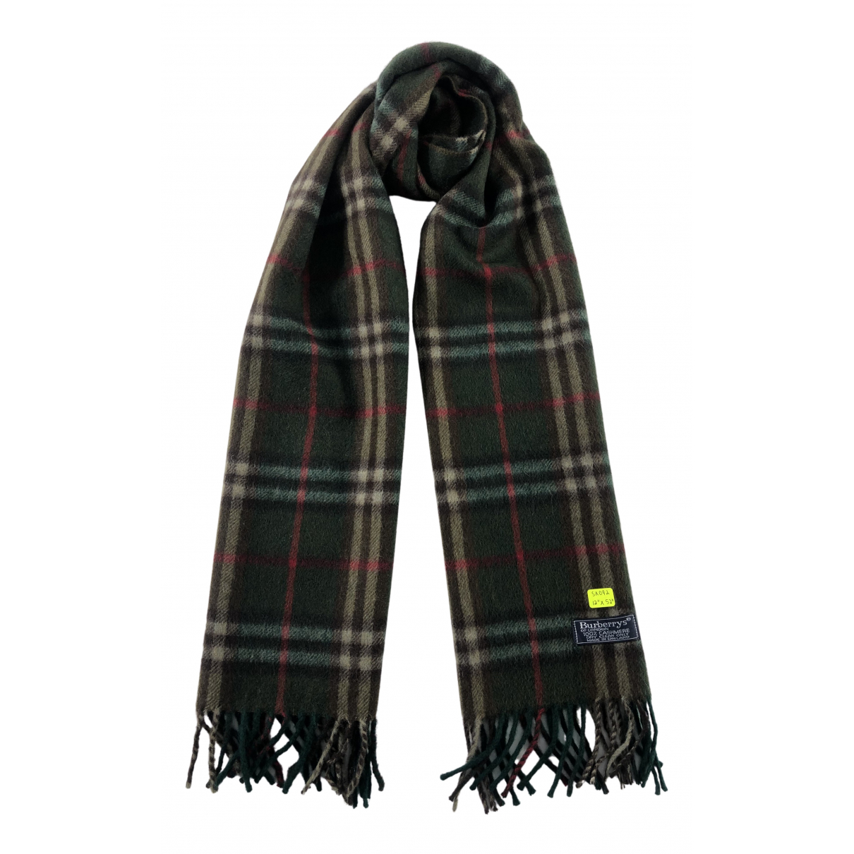 Burberry N Green Cashmere scarf & pocket squares for Men N