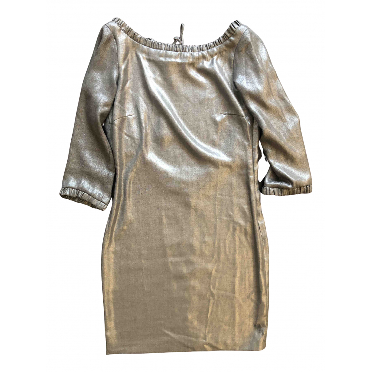 Non Signe / Unsigned \N Kleid in  Metallic Mit Pailletten