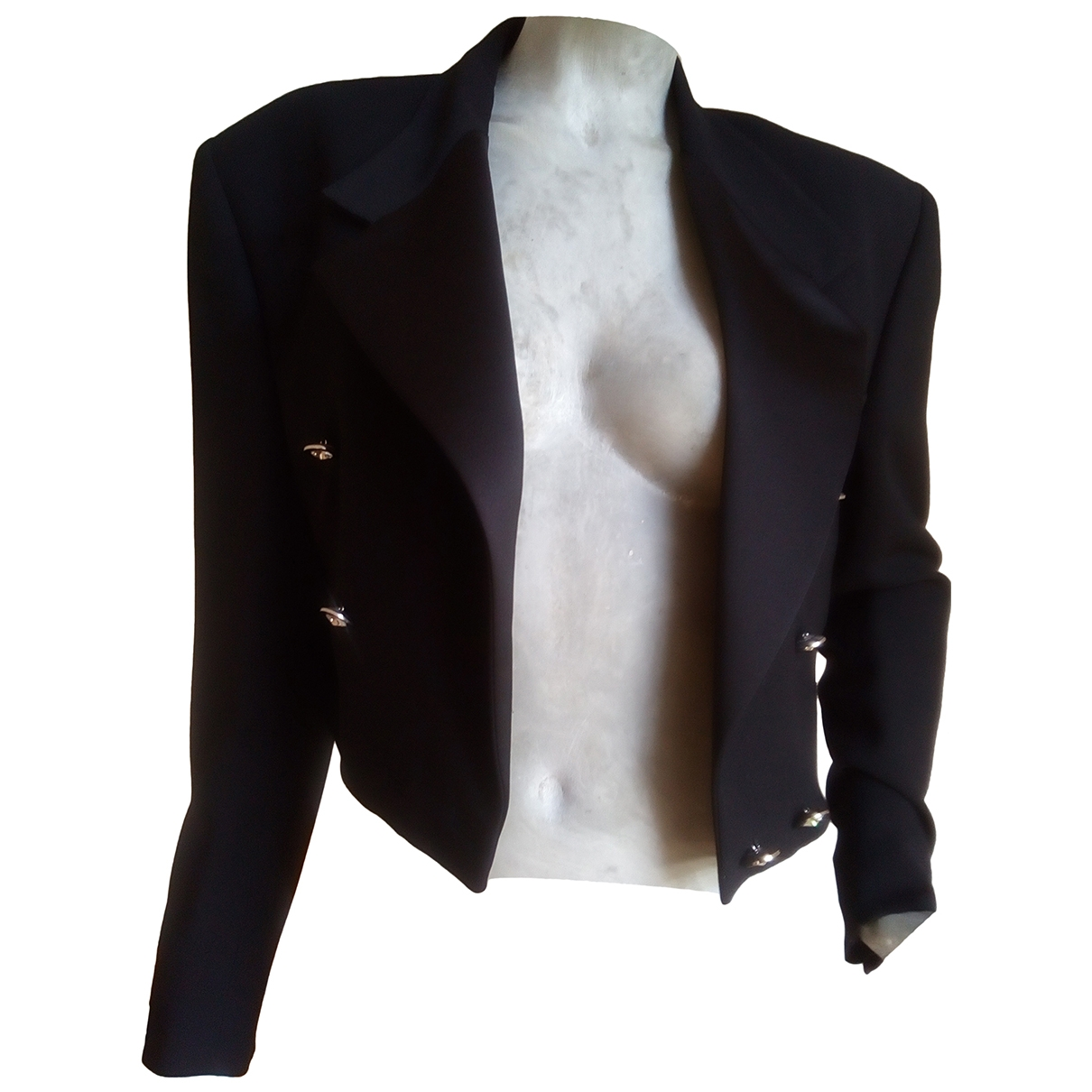 Gianni Versace \N Black Wool jacket for Women 42 IT