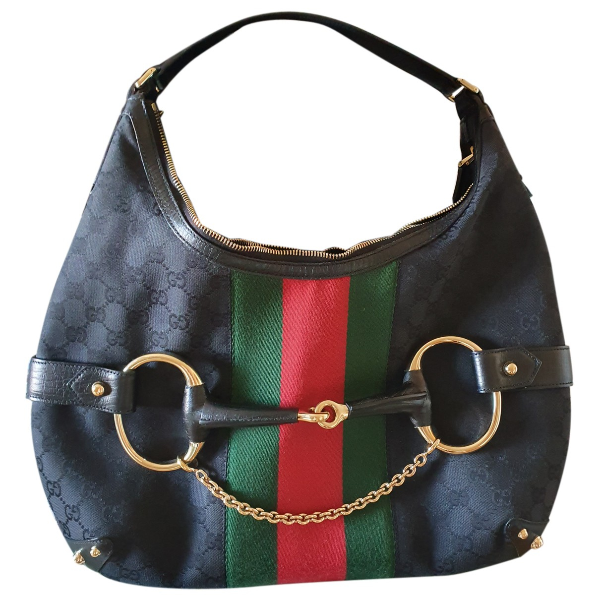 Gucci Hobo Black Cloth handbag for Women N