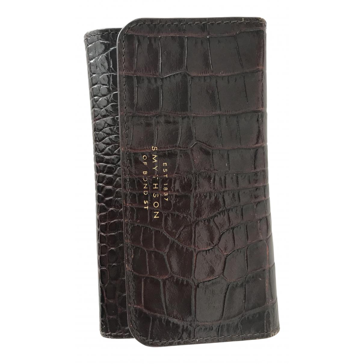 Smythson - Accessoires   pour lifestyle en cuir - marron
