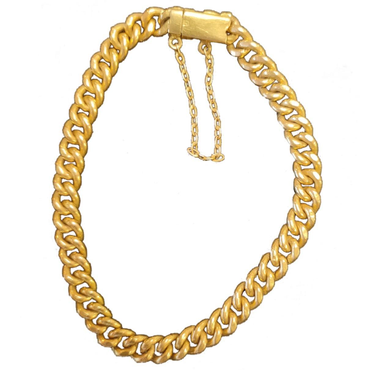 - Bracelet Gourmette pour femme en or jaune - dore