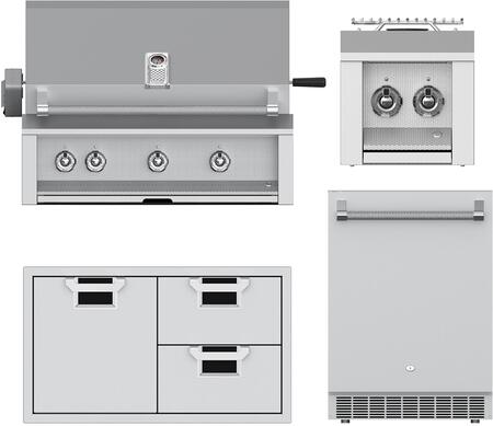 4 Piece Grill Package with EABR36NG 36