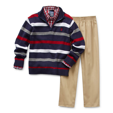 IZOD Sweater Little Boys 3-pc. Pant Set, 6 , Blue