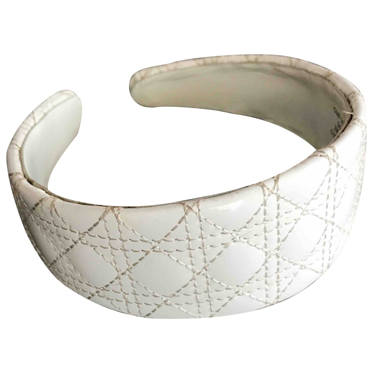 Dior \N Haarschmuck in  Weiss Leder