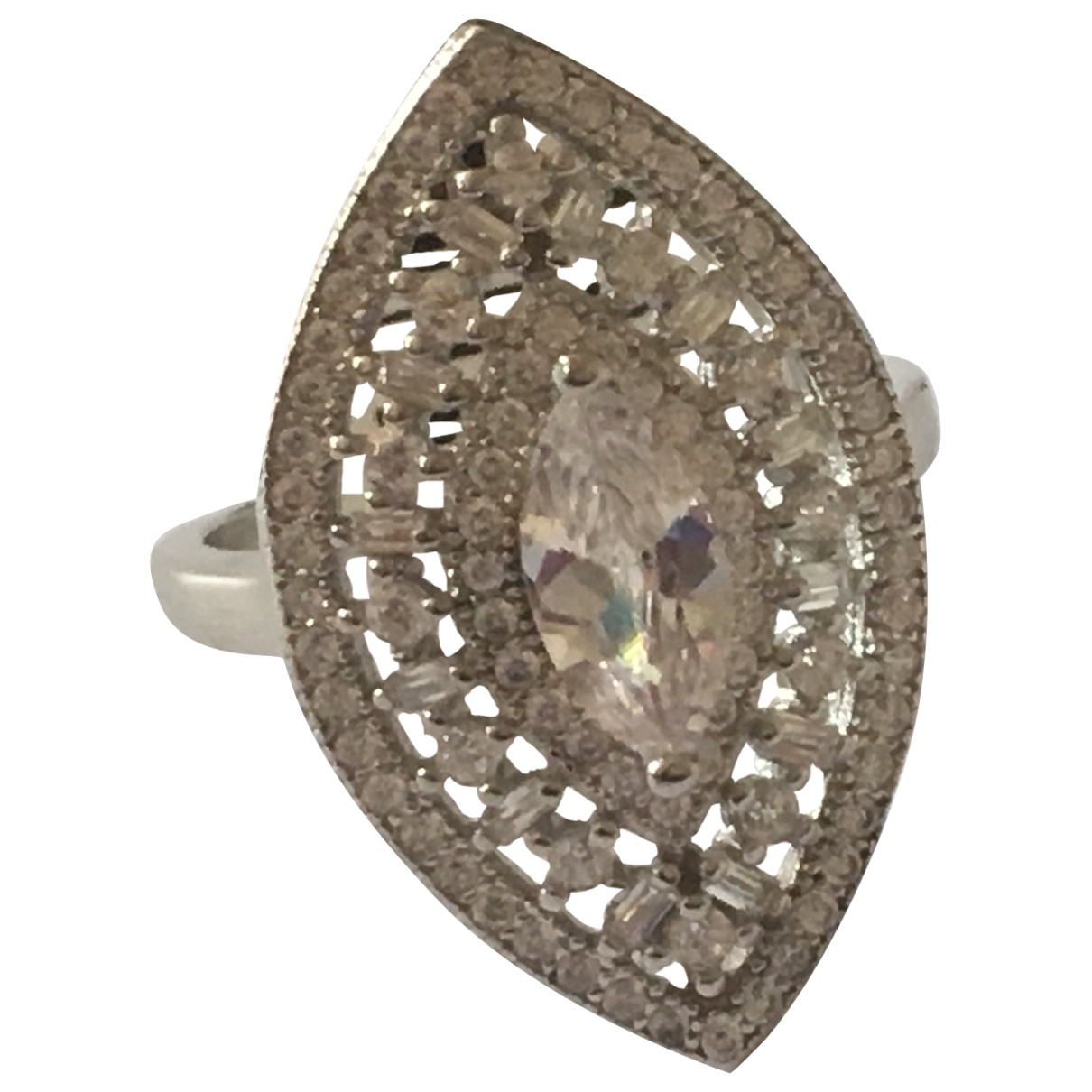 Non Signé / Unsigned Bagues Cocktails Silver Silver ring for Women \N