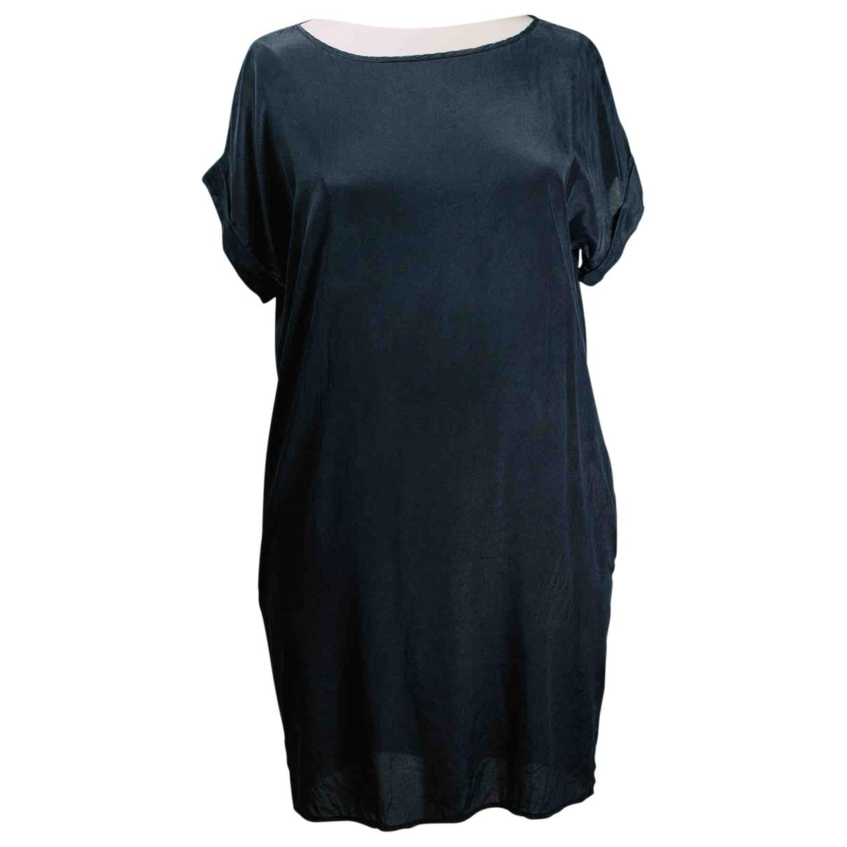 Dkny - Robe   pour femme en soie - noir